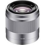 SONY E 50mm F1.8 OSS Prime Lens [SEL50F18] - Silver